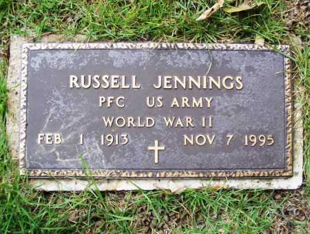 JENNINGS (VETERAN WWII), RUSSELL - Benton County, Arkansas | RUSSELL JENNINGS (VETERAN WWII) - Arkansas Gravestone Photos