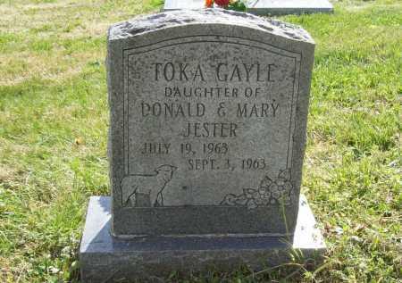 JESTER, TOKA GAYLE - Benton County, Arkansas | TOKA GAYLE JESTER - Arkansas Gravestone Photos