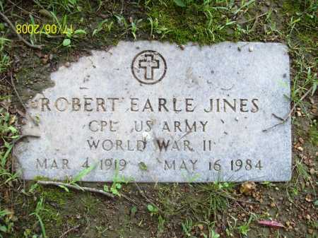 JINES (VETERAN WWII), ROBERT EARLE - Benton County, Arkansas | ROBERT EARLE JINES (VETERAN WWII) - Arkansas Gravestone Photos