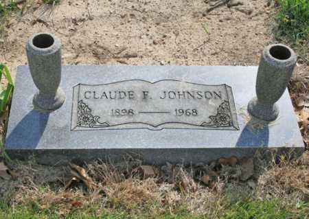 JOHNSON, CLAUDE F. - Benton County, Arkansas | CLAUDE F. JOHNSON - Arkansas Gravestone Photos