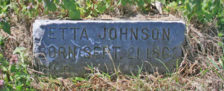 JOHNSON, ETTA - Benton County, Arkansas | ETTA JOHNSON - Arkansas Gravestone Photos