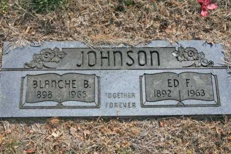 JOHNSON, ED F. - Benton County, Arkansas | ED F. JOHNSON - Arkansas Gravestone Photos