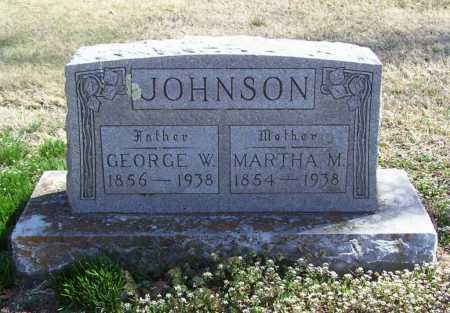 JOHNSON, GEORGE W. - Benton County, Arkansas | GEORGE W. JOHNSON - Arkansas Gravestone Photos