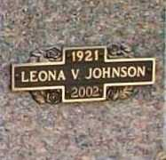BRANDT JOHNSON, LEONA V. - Benton County, Arkansas | LEONA V. BRANDT JOHNSON - Arkansas Gravestone Photos