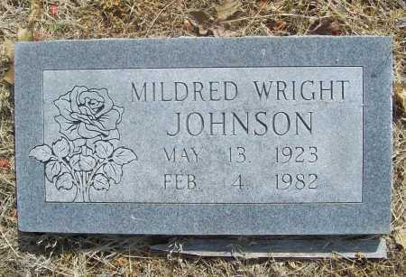WRIGHT JOHNSON, MILDRED - Benton County, Arkansas | MILDRED WRIGHT JOHNSON - Arkansas Gravestone Photos