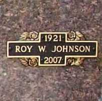 JOHNSON (VETERAN WWII), ROY WALTER - Benton County, Arkansas | ROY WALTER JOHNSON (VETERAN WWII) - Arkansas Gravestone Photos