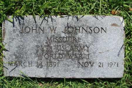JOHNSON (VETERAN WWI), JOHN W. - Benton County, Arkansas | JOHN W. JOHNSON (VETERAN WWI) - Arkansas Gravestone Photos