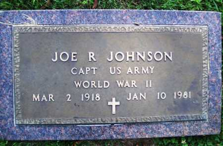 JOHNSON (VETERAN WWII), JOE R. - Benton County, Arkansas | JOE R. JOHNSON (VETERAN WWII) - Arkansas Gravestone Photos