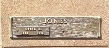 JONES, CYRIL R. - Benton County, Arkansas   CYRIL R. JONES - Arkansas Gravestone Photos