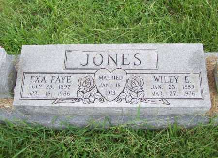 JONES, EXA FAYE - Benton County, Arkansas | EXA FAYE JONES - Arkansas Gravestone Photos