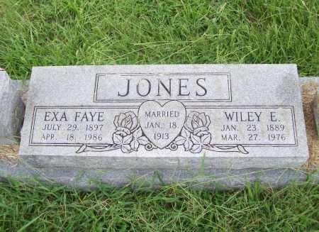 JONES, EXA FAYE - Benton County, Arkansas | EXA FAYE JONES - Arkansas Gravestone Photos