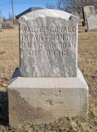 JORDAN, WALTER DONALD - Benton County, Arkansas | WALTER DONALD JORDAN - Arkansas Gravestone Photos
