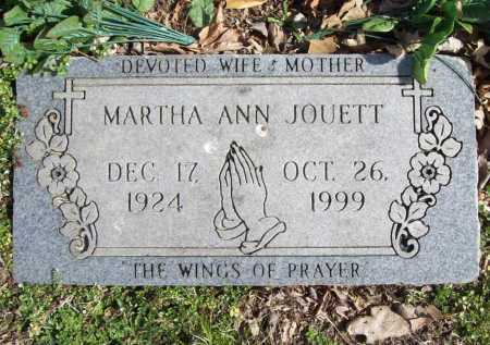 JOUETT, MARTHA ANN - Benton County, Arkansas | MARTHA ANN JOUETT - Arkansas Gravestone Photos