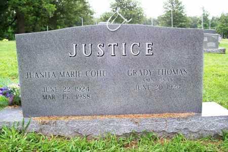 JUSTICE, JUANITA MARIE - Benton County, Arkansas | JUANITA MARIE JUSTICE - Arkansas Gravestone Photos