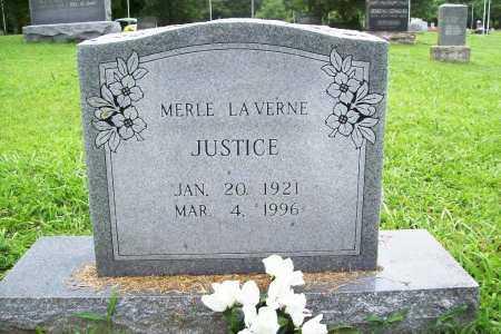 JUSTICE, MERLE LAVERNE - Benton County, Arkansas | MERLE LAVERNE JUSTICE - Arkansas Gravestone Photos