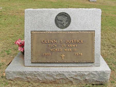 JUSTICE (VETERAN WWII), GLENN S. - Benton County, Arkansas | GLENN S. JUSTICE (VETERAN WWII) - Arkansas Gravestone Photos