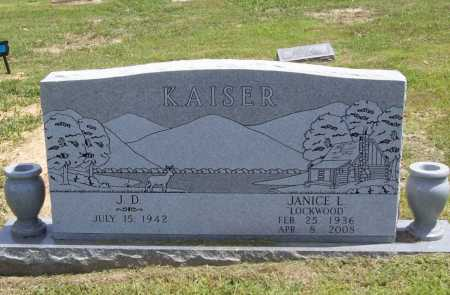 LOCKWOOD KAISER, JANICE LEE - Benton County, Arkansas | JANICE LEE LOCKWOOD KAISER - Arkansas Gravestone Photos
