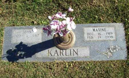 KARLIN, MAXINE - Benton County, Arkansas | MAXINE KARLIN - Arkansas Gravestone Photos