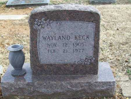 KECK, WAYLAND - Benton County, Arkansas | WAYLAND KECK - Arkansas Gravestone Photos