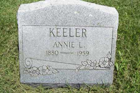 KEELER, ANNIE L. - Benton County, Arkansas | ANNIE L. KEELER - Arkansas Gravestone Photos