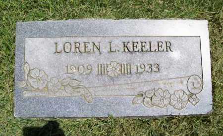 KEELER, LOREN L. - Benton County, Arkansas | LOREN L. KEELER - Arkansas Gravestone Photos