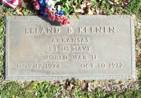 KEENEN (VETERAN WWII), LELAND B. - Benton County, Arkansas | LELAND B. KEENEN (VETERAN WWII) - Arkansas Gravestone Photos