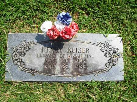 KEISER, HENRY - Benton County, Arkansas | HENRY KEISER - Arkansas Gravestone Photos