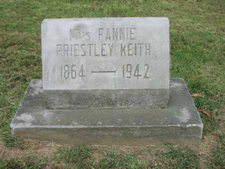 "KEITH, VIRGINIA ""FANNIE"" - Benton County, Arkansas 