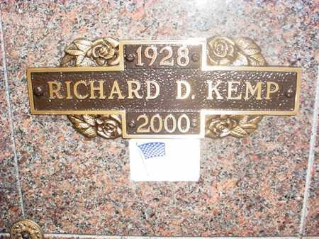KEMP, RICHARD D. - Benton County, Arkansas | RICHARD D. KEMP - Arkansas Gravestone Photos