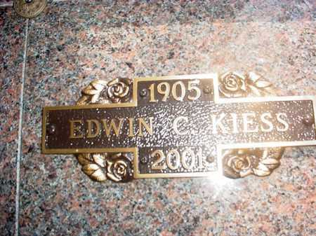 KIESS, EDWIN C. - Benton County, Arkansas | EDWIN C. KIESS - Arkansas Gravestone Photos