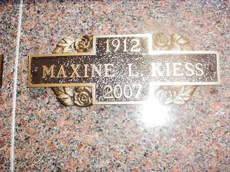 KIESS, MAXINE L. - Benton County, Arkansas | MAXINE L. KIESS - Arkansas Gravestone Photos