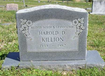 KILLION, HAROLD D. - Benton County, Arkansas | HAROLD D. KILLION - Arkansas Gravestone Photos
