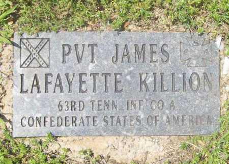 KILLION (VETERAN CSA), JAMES LAFAYETTE - Benton County, Arkansas | JAMES LAFAYETTE KILLION (VETERAN CSA) - Arkansas Gravestone Photos