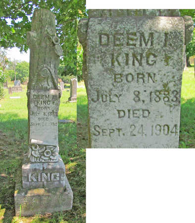 KING, DEEM I - Benton County, Arkansas | DEEM I KING - Arkansas Gravestone Photos