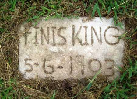 KING, FINIS - Benton County, Arkansas | FINIS KING - Arkansas Gravestone Photos