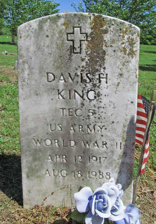 KING (VETERAN WWII), DAVIS H - Benton County, Arkansas | DAVIS H KING (VETERAN WWII) - Arkansas Gravestone Photos
