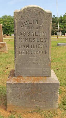 KINGSLEY, JULIA A - Benton County, Arkansas | JULIA A KINGSLEY - Arkansas Gravestone Photos
