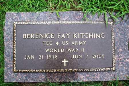 KITCHING (VETERAN WWII), BERENICE FAY - Benton County, Arkansas | BERENICE FAY KITCHING (VETERAN WWII) - Arkansas Gravestone Photos