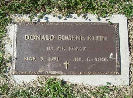 KLEIN (VETERAN), DONALD EUGENE - Benton County, Arkansas | DONALD EUGENE KLEIN (VETERAN) - Arkansas Gravestone Photos