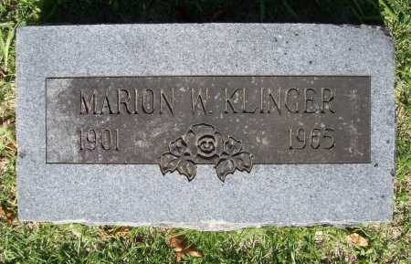 KLINGER, MARION W. - Benton County, Arkansas | MARION W. KLINGER - Arkansas Gravestone Photos