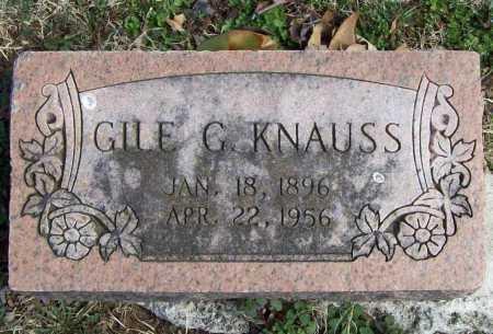 KNAUSS, GILE G. - Benton County, Arkansas | GILE G. KNAUSS - Arkansas Gravestone Photos