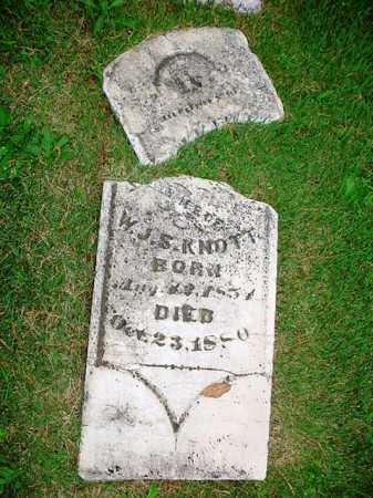 KNOTT, MARTHA - Benton County, Arkansas   MARTHA KNOTT - Arkansas Gravestone Photos
