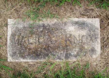 KNOX, MALICA - Benton County, Arkansas | MALICA KNOX - Arkansas Gravestone Photos