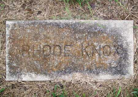 KNOX, RHODE - Benton County, Arkansas | RHODE KNOX - Arkansas Gravestone Photos