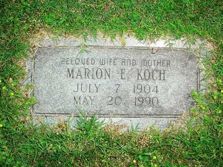 KOCH, MARION E. - Benton County, Arkansas   MARION E. KOCH - Arkansas Gravestone Photos