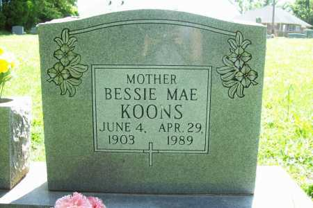 KOONS, BESSIE MAE - Benton County, Arkansas | BESSIE MAE KOONS - Arkansas Gravestone Photos
