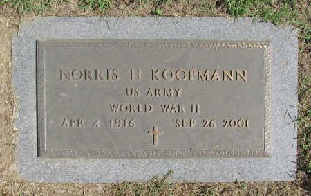 KOOPMANN (VETERAN WWII), NORRIS H. - Benton County, Arkansas | NORRIS H. KOOPMANN (VETERAN WWII) - Arkansas Gravestone Photos