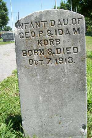 KORB, INFANT DAUGHTER - Benton County, Arkansas | INFANT DAUGHTER KORB - Arkansas Gravestone Photos