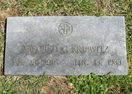 KRIEWITZ, MILDRED G. - Benton County, Arkansas | MILDRED G. KRIEWITZ - Arkansas Gravestone Photos