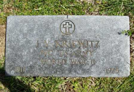 "KRIEWITZ (VETERAN WWII), JAMES V ""FOX"" - Benton County, Arkansas 